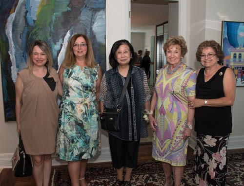 Alina Ianson, National Executive Director of CHW, Gina Grant, Tea Co-Chair, Rowena Tolson, Dorothy Nadolny, host of the tea and Sophie Frenkel, Co-President OHW