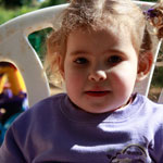 Child at the Clara Balinsky Daycare Centre