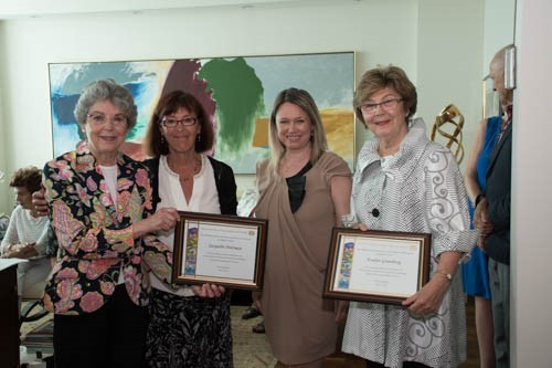 Jackie Holzman, Hedy Gutman, President Amit Chapter, Alina Ianson, National Executive Director of CHW and Evelyn Greenberg