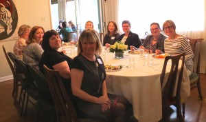 Sustainers and friends enjoyed a wonderful lunch hosted by Ruth Aaron.