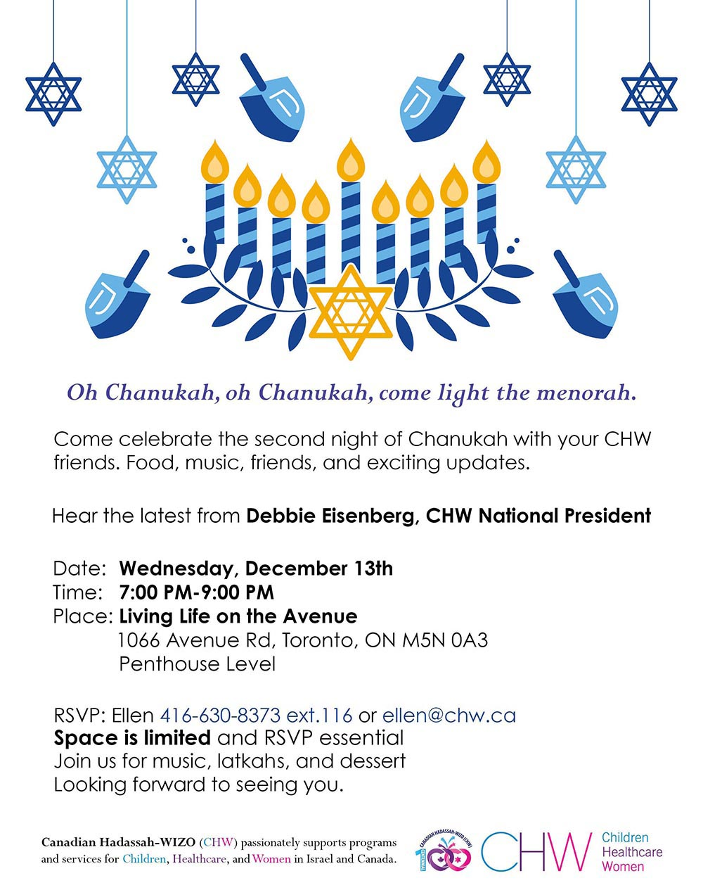CHW Toronto- City Wide Chanukah Party