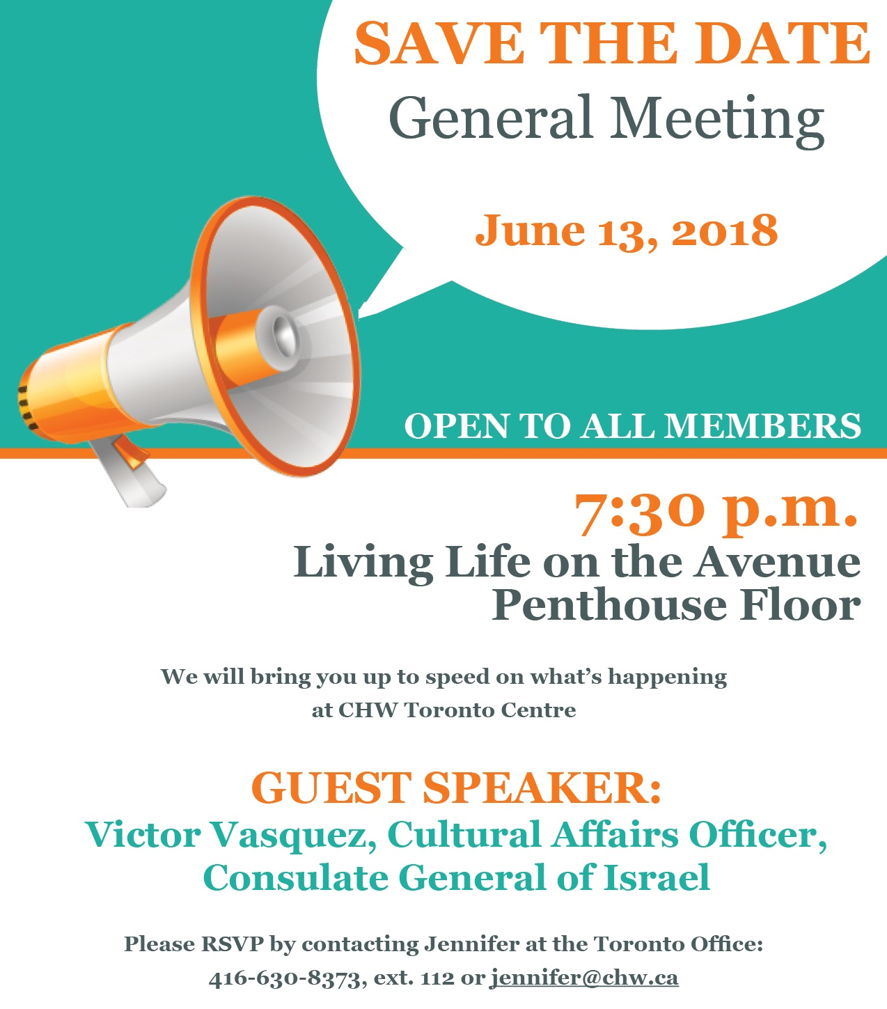 CHW Toronto: General Meeting @ Living Live on the Avenue