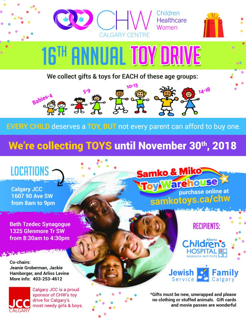 CHW Calgary: 16th Annual Toy Drive