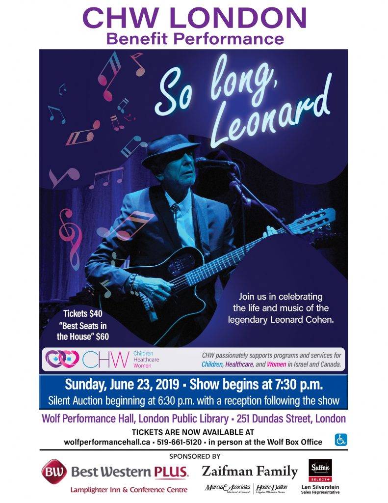 CHW London Centre Presents: So long, Leonard