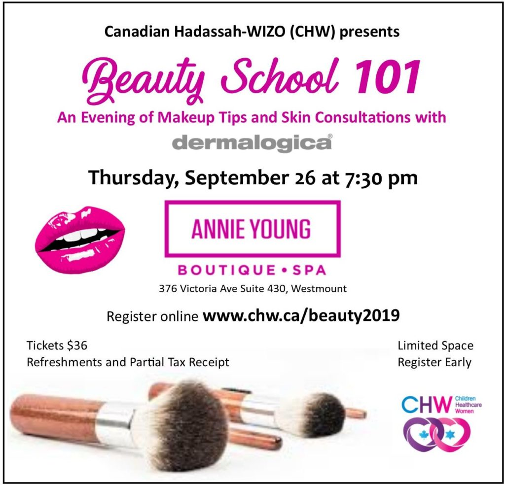 CHW Montreal: Beauty School 101 @ Annie Young Boutique and Spa