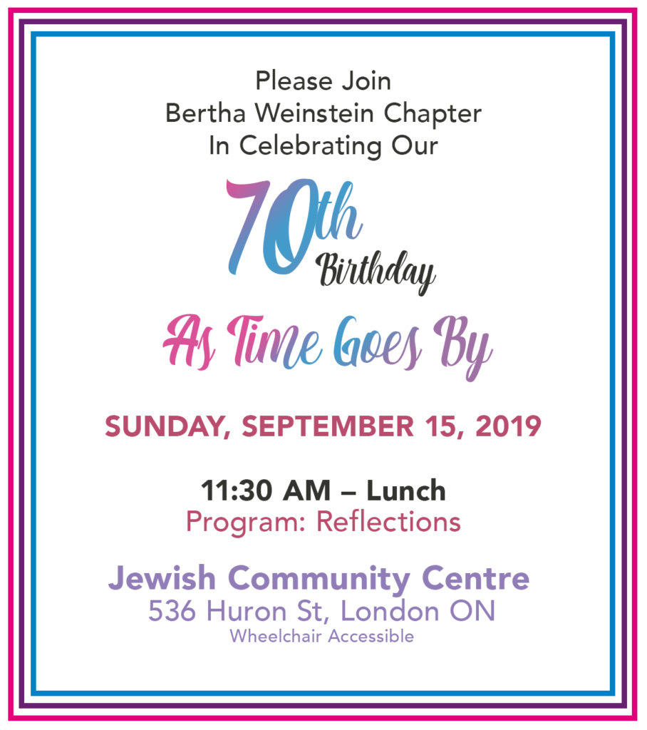 CHW London Centre: As Time Goes By @ Jewish Community Centre