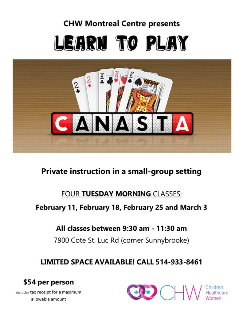 CHW Montreal Centre Canasta Classes