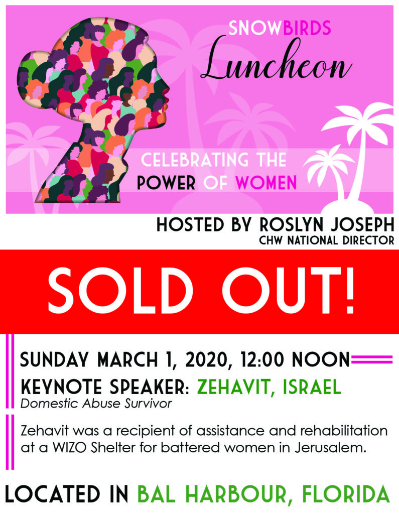 Snowbirds Luncheon 2020- The Power of Women- SOLD OUT