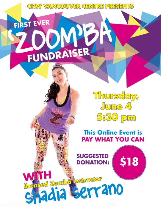 CHW Vancouver: ZOOMBA Class Fundraiser