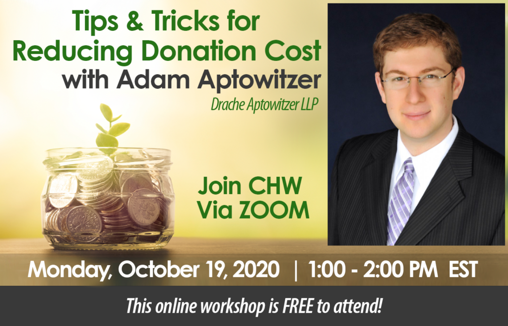 Tips & Tricks for Reducing Donation Cost with Adam Aptowitzer