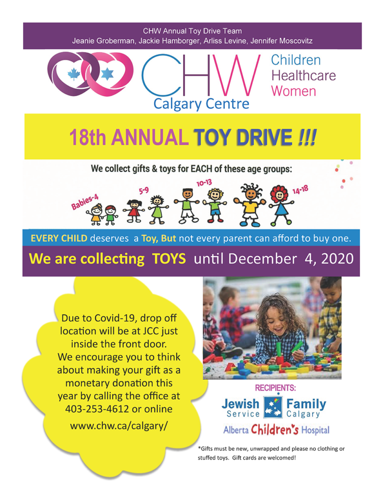 CHW Calgary Centre 18th Annual Toy Drive
