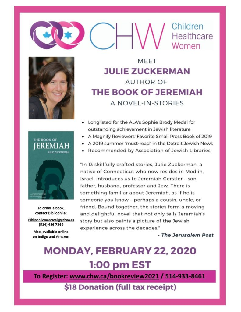 CHW Montreal: Book of Jeremiah with Julie Zuckerman